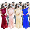 Women Pregnant Off Shoulder Prom Lace Long Maxi Dress Maternity Photography Prop