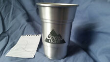 Coors Light Silver Plastic 18 oz Cup Used #2