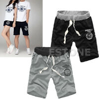 Men's Knee Casual Baggy Jogger Sport Shorts Baggy Gym Harem Pants Rope Trousers