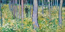 Van Gogh 1889, Undergrowth with Two Figures, Fade Resistant HD Print or Canvas