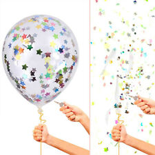 10pcs DIY Confetti Clear Colors Star Balloons Party Supply Decor Wedding Ballons