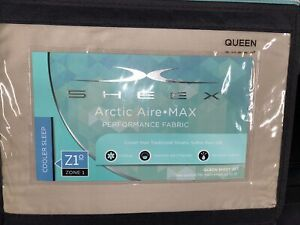Brand new Sheex Artic Aire Max Performance sheet set in Queen Taupe MSRP$199