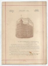 RARE CHAMBER Annv. MENU - 1867-1888 - Jan. 10 1888 ST. PAUL MINN.