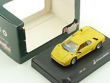 Détail Cars Art 110 Lamborghini Diablo jaune vitrine 1:43 neuf dans sa boîte 1603-10-48