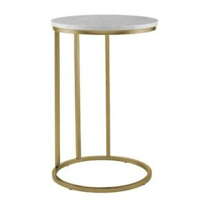 Walker Edison Furniture Company Modern Round Side End Accent Table Living Room,