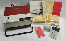 "Vintage Sony TC-123 3"" Reel to Reel Tape Recorder Original Box Multi Voltage Red"
