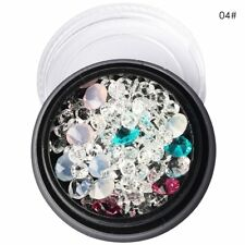 Fashion Crystal Flat Back Iridescent Nail Art Rhinestones Gems AB Glitter Beads