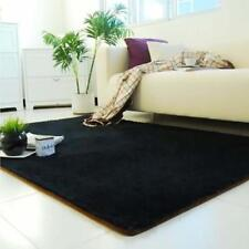 New Fluffy Living Room Carpet Shaggy Soft Area Rug Rectangle Floor Mat Black #A