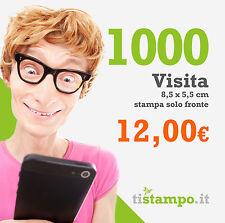 1000 BIGLIETTI DA VISITA 300 GR. STAMPA FRONTE A 12 EURO