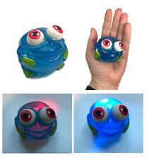 Blue Light Up Frog Squeeze Squishy Stress Ball Fidget Toy Special Need Autism