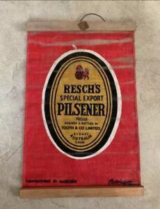 Vintage Pilsener Beer Advertising Sign  Fabric Wall Hanger