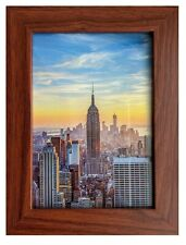 Frame Amo Walnut Brown Picture Frame or Poster Frame, 1 inch Wide, Smooth Finish