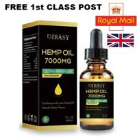 7,000mg  OrganicHemp Oil 30ML Cold Pressed Extract Fast Delivery UK GMO FREE