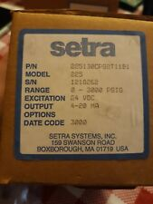 Setra 225 225130cpg2t11b1 Pressure Transducer 0 To 3000 Psi Range New In Box