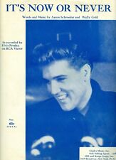 Elvis Presley sheet music It's Now Or Never 1960