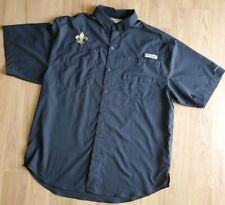saints columbia fishing shirt