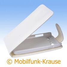 Flip Case Etui Handytasche Tasche Hülle f. Samsung Galaxy S Advance (Weiß)