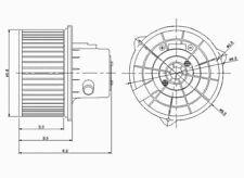 HVAC Blower Motor Front TYC 700119