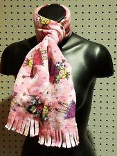 New Handmade Women's / Men's Pink Fairy Princess Fleece Fringed Winter Scarf