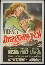 Dragonwyck (1946) US One Sheet On Linen GENE TIERNEY VINCENT PRICE