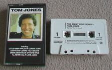 TOM JONES - THE GREAT LOVE SONGS music cassette tape