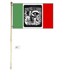 5' Wood Flag Pole Kit Wall Mount Bracket 3x5 Que Viva La Causa Polyester Flag