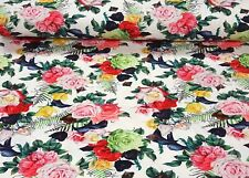 Viskose Jersey Stoff Kleiderstoff Digitaldruck Elastisch Strandkleid Tropic E7