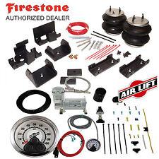 Firestone 2560 Ride Rite Air Bags & AirLift HD Compressor for 13-17 Ram 3500 4X4