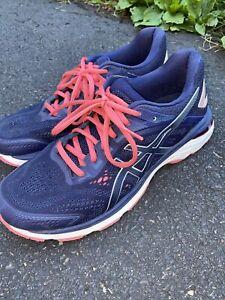 Womens Asics Running Shoes Flytefoam Dynamic Size 9.5 Blue/Purple/Pink