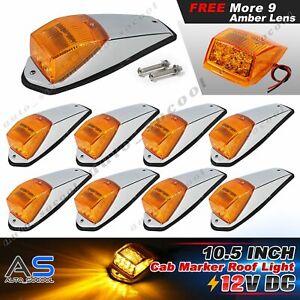 "Amber Truck 9 x 10.5"" 17 LED Roof Lights Trailer Clearance Kenworth Peterbilt RV"