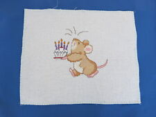 Lovely detailed vintage piece of cross stitch Child's Room? see photos