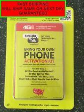 STRAIGHT TALK VERIZON CDMA BYOP ACTIVATION KIT CODE & SIM CARDS + FREE SIM TOOL