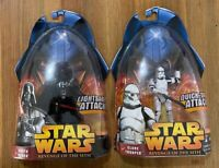 Star Wars 2005 Revenge of the Sith DARTH VADER & CLONE TROOPER Figures Toy