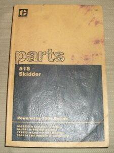 CAT CATERPILLAR 518 SKIDDER PARTS MANUAL BOOK CATALOG S/N 50S 94U