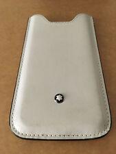 MONTBLANC iPhone SE 5S Handhülle Case Leder weiß Top Zustand Rare