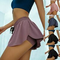 Womens Athletic Pleated Tennis Golf Skirt with Shorts Workout Running Gym Skorts