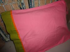 KMART PINK & GREEN & ORANGE (1) STANDARD PILLOWCASE COTTON BLEND GIRLS 19 X 29