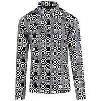 NEW MADCAP RETRO MOD MENS 60s 70s Sixties SHIRT TRIP OP ART BLACK/WHITE MC201