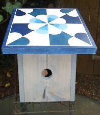 Handmade Solid Wood Birdhouse -Barn Quilt Design - Dutch Windmill Design