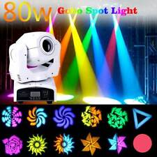 80W Moving Head Stage Spot Gobo Light RGBW LED DMX Club Disco DJ Party Lighting