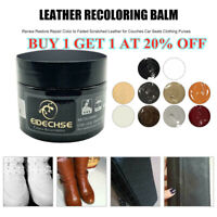 EIDECHSE LEATHER RECOLOURING BALM CREAM RESTORER SOFA CHAIRS 10 COLOURS 50ml ACE
