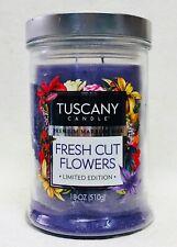 1 Tuscany Candle FRESH CUT FLOWERS Marbled Wax 2-Wick Tumbler Large 18 oz