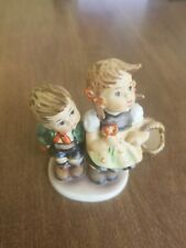 Antique Hummel To Market Boy & Girl With Basket 49 3/0 signed w/ paper figurine