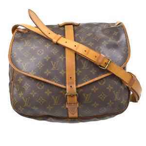 LOUIS VUITTON SAUMUR 35 SHOULDER BAG PURSE MONOGRAM CANVAS 893FC M42254 20123