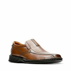 Clarks Men Slip On Bicycle Toe Loafers Escalade Step Size US 8M Brown Leather