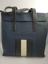 New Bally Mens Bag Besley Tote Calf Leather Dark Navy MADE IN  ITALY MSRP $1720