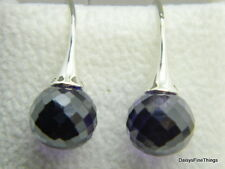 NEW AUTHENTIC PANDORA EARRINGS MORNING DEW PURPLE #290552ACZ PANDORA   P
