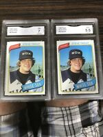 (2) Steve Trout 1980 Topps 83 Rookie Cards, GMA 7 NM Chicago White Sox