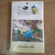 Thomas Kinkade Disney Dreams Collection Cinderella Cross Stitch Kit New #52553