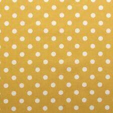 100% Cotton Mustard Printed Canvas Polkadot Curtain Cushion Upholstery Fabric